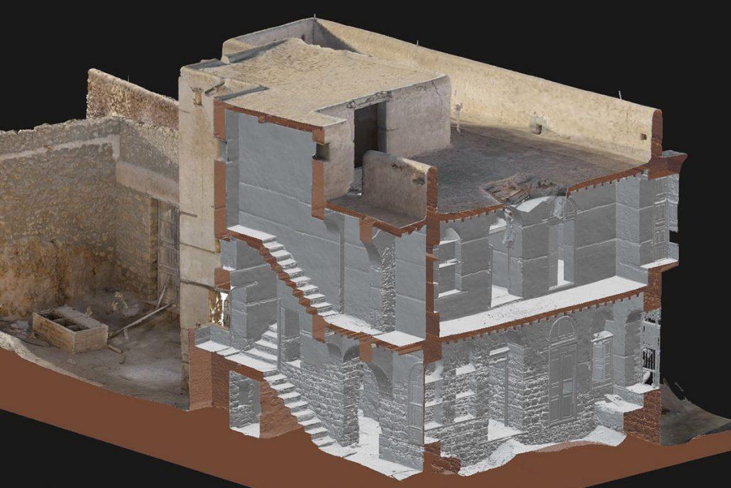 Modèle 3D complet intérieur et extérieur Al-Wajh, Arabie Saoudite Geokali 2017